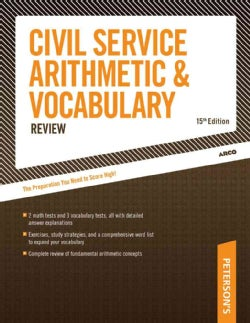 Arco Civil Service Arithmetic and Vocabulary (Paperback)