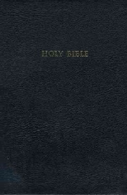 Holy Bible: King James Version, Black, Bonded Leather, Study Bible (Hardcover)