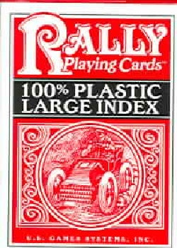 Rally Playing Cards: 100% Plastic Large Index (Cards)