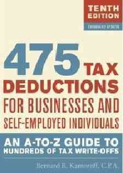 475 Tax Deductions for Businesses and Self-Employed Individuals: An A-to-Z Guide to Hundreds of Tax Write-Offs (Paperback)