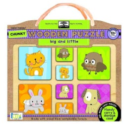 Big and Little: Earth Friendly Puzzles With Handy Carry & Storage Case (General merchandise)