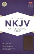 The Holy Bible: New King James Version, Brown, Imitation Leather, Gift & Award Bible (Paperback)
