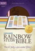 Holman Rainbow Study Bible: Holy Bible, King James Version, Brown/Pink, Leathertouch (Paperback)