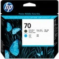HP No. 70 Matte Black and Cyan Printhead