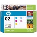 HP No. 02 Combo pack Color Ink Cartridge with Vivera Ink