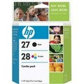 HP No. 27A / 28A Black and Tri-color Ink Cartridges Combo Pack
