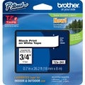 Brother TZ Series .75-Inch Black on White Lettering Tape