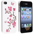 Blossom Butterfly Slim Rubber Coated Case for Apple iPhone 4