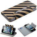 BasAcc Black/ Yellow Stripe MyJacket Wallet For Apple iPhone 5