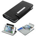 BasAcc Black Book-Style Premium MyJacket Wallet For Apple iPhone 5