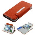 BasAcc Orange Book-Style Premium MyJacket Wallet For Apple� iPhone 5