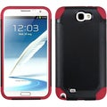 BasAcc Black/ Red Frosted Case for Samsung Galaxy Note II T889/ I605