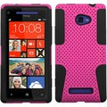 BasAcc Hot Pink/ Black Case for HTC Windows Phone 8X