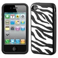 BasAcc Zebra/ Black Pastel Skin Case for Apple iPhone 4/ 4S