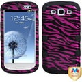 BasAcc Zebra Skin Hot Pink/ Black Case For Samsung Galaxy S3 III i9300