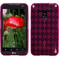BasAcc Hot Pink Argyle Candy Skin Case for LG VS910 Revolution Esteem