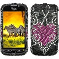 BasAcc Trapped Heart Diamante Case for HTC myTouch 4G