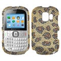 BasAcc Leopard Skin/ Camel Diamante Case for Alcatel One Touch 871A