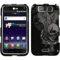 BasAcc Skull Wing Phone Protector Case for LG MS840 Connect 4G