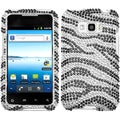 BasAcc Black Zebra Skin Diamond Case for LG LS696 Optimus Elite