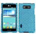 BasAcc Blue/ White Dots Diamond Case for LG US730 Splendor/ 730 Venice