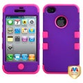BasAcc Rubber Grape/ Pink TUFF Hybrid Case for Apple iPhone 4/ 4S