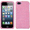 BasAcc Pink/ white dots Diamante Protector Case for Apple� iPhone 5