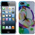 BasAcc 2D Silver Colorful Butterfly Protector Case for Apple iPhone 5