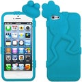 BasAcc Teal Frog Tropical Peeking Pets Skin Case for Apple� iPhone 5
