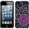 BasAcc Rose Flower Diamante Case for Apple iPhone 5