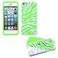 BasAcc Natural Ivory White Zebra Skin/ Green Case for Apple iPhone 5