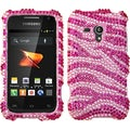BasAcc Pink Zebra Skin Diamante Case for Samsung M830 Galaxy Rush