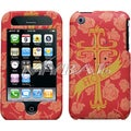 BasAcc Deluxe Holy Cross Maroon Phone Case for Apple iPhone 3/ 3GS