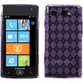 BasAcc Purple Argyle Gel TPU Case for Samsung i677 Focus Flash