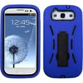 BasAcc Black/ Blue Case with Stand for Samsung Galaxy S III/ S3 i9300
