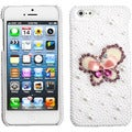 BasAcc Butterfly Pearl 3D Diamante Back Case for Apple iPhone 5