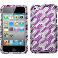 BasAcc Purple/ White Rocket Diamond Case for Apple iPod touch 4