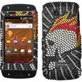 BasAcc Flame Skull/ Diamante Phone Case for Samsung T839 Sidekick 4G