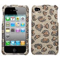 BasAcc Leopard Skin/ Camel Diamante Case for Apple iPhone 4S/ 4