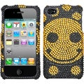 BasAcc Happy Face/ Diamante Phone Case for Apple iPhone 4S/ 4