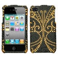BasAcc Golden Butterfly/ Diamante Case for Apple iPhone 4S/ 4