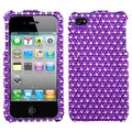 BasAcc Dots/ Purple/ White/ Diamante Phone Case for Apple iPhone 4S/ 4