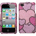 BasAcc Cloudy Hearts/ Diamante Case for Apple iPhone 4S/ 4