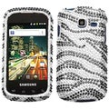 BasAcc Black/ Zebra Skin/ Diamante Case for Samsung R730 Transfix