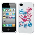 BasAcc Colorful Skulls /White Pastel Skin Case for Apple iPhone 4S/ 4