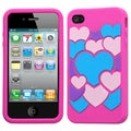 BasAcc Colorful Love/ Hot Pink Pastel Case for Apple iPhone 4S/ 4