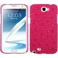 BasAcc Hot Pink Pearl Diamante Back Case for Samsung Galaxy Note II
