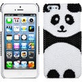 BasAcc Playful Panda Pearl Diamante Back Case for Apple iPhone 5