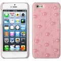 BasAcc Pink Pearl/ Diamante Back Case for Apple iPhone 5