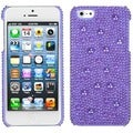 BasAcc Baby Purple/ Pearl Diamante Case for Apple iPhone 5